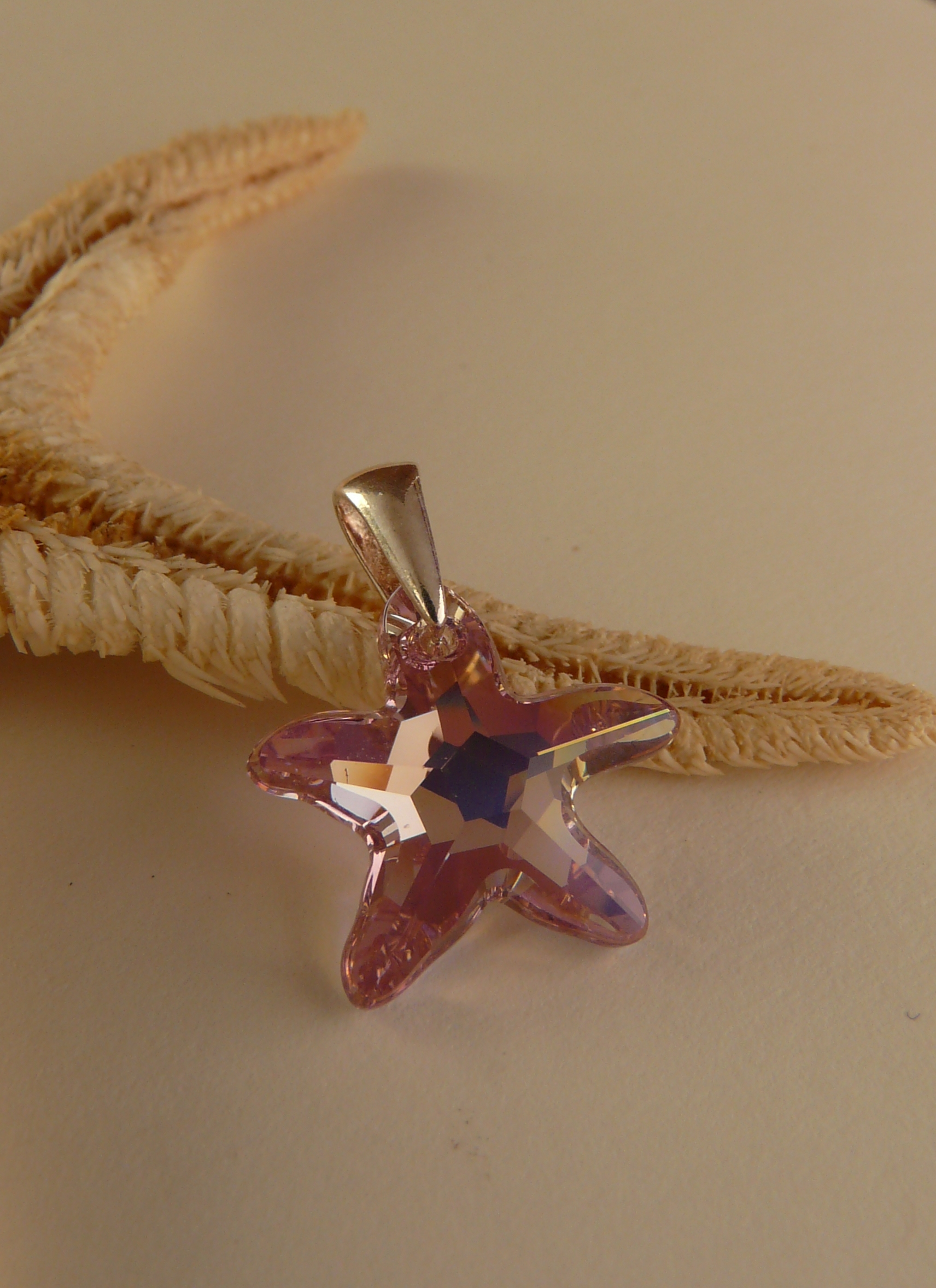 Prívesok Starfish Light Amethyst Swarovski Elements sw077 striebro 925 0,44g
