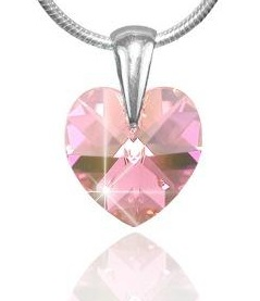 Prívesok Heart Rose Swarovski Elements sw101 striebro 925 0,25g